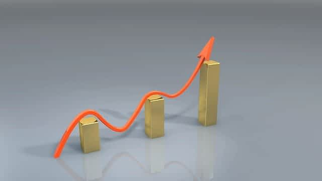 Gold does not have a positive upward trajectory.